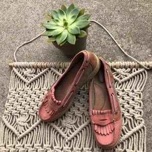 Sperry Top-Sider pink boat shoes tassels size 7.5